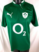 Ireland Rugby 2011-12 Home Jersey Shirt IRFU Mens Large Puma O2 B42