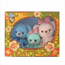 Disney Store Japan UniBEARsity Blue Berry Pie Plush Set  Lilo & Stitch,Scrump
