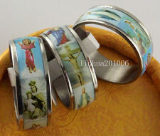 WHOLESALE 50 Pcs Mix lot Bible Stainless Steel Rings Fashion Jewelry