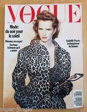 Vogue Paris ~ #695 April 1989 ~ Isabelle Pasco Kristen McMenamy Guy Laroche