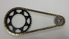 KAWASAKI KL650 KLR NEW SPROCKET & GOLD O-RING CHAIN SET 16/42 1990 1991- 2014