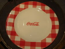 """ADVERTISING WHITE PORCELAIN COCA COLA PLATE LARGE PLATE 10"""" >>"""