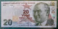 """Turkey - 20 Lira Banknote - 2017 [2009 Series] - 224c Prefix """"C"""" - UNC Condition"""