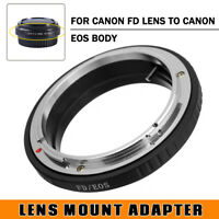 FD-EOS Adapter Ring Mount For Canon FD Lens To EOS EF Camera No Glass M1 M2 M3