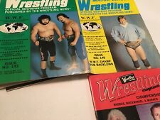 3 Vintage Assorted Wrestling Magazines Great Covers