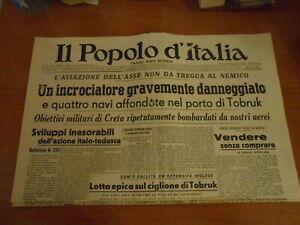 quotidiano-IL POPOLO D'ITALIA n.147-1941-serie GIORNALI DI GUERRA-RIPRODUZIONE