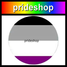 Asexual Metal 1.1 inch Diameter Asexual Pride Button Badge #1217