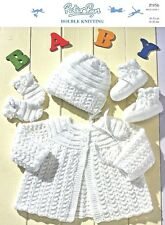 "Peterpan-P956  ""COPY""  Baby Jacket, Bonnet, Mittens and Booties  Knit.Pattern"