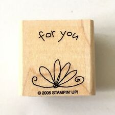 Stampin Up FOR YOU Rubber Stamp Gift Tag Label Craft Wood Mounted 2005