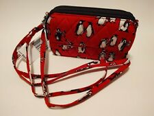"""Vera Bradley ~ """"Playful Penguins Red"""" ~ All in One Crossbody for iPhone ~ Nwt"""