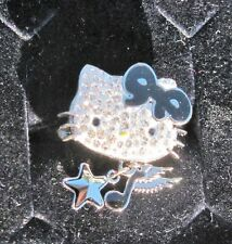 NWB Swarovsky Crysal Hello Kitty Rock ring, size 58 or US 8