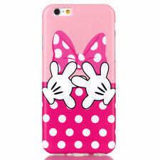 """Pink & White BD Cartoon Flexible Back Case Cover for iPhone 6 6S 4.7"""""""