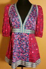 Mark Jacobs Multicolor cotton floral print 3/4 sleeve blouse size 6