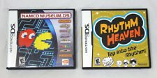 Nintendo DS Pair of Fun Party Games - Namco Museum & Rhythm Heaven Tested Work!