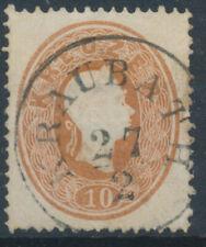 ÖSTERREICH 1861 10kr, KRAUBATH (St) Mü:15P! Schön!