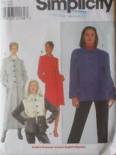 Simplicity Sewing Pattern-Misses' COAT or JACKET-Sizes: 6-10-VARIATIONS-Uncut!