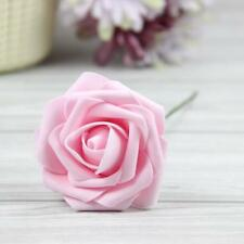 5X Colourfast Foam Roses Artificial Flower Wedding Bouquet Party Decor Baby Pink