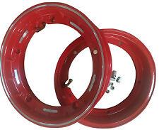 VESPA 10 in (approx. 25.40 cm) Tubeless Llantas X 2 PX LML T5 rojo nuevo despacho de par de aleación