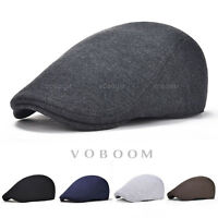 VOBOOM Mens Ivy Hat Cotton Newsboy Gatsby Cap Golf Driving Flat Cabbie Beret Hat