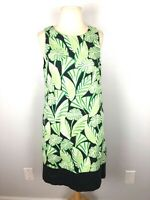 Maggy London Green Floral Sleeveless Dress, Size 10