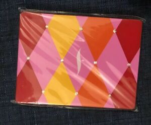 ONE SEPHORA Hinged Compact Mirror Carnival Double Sided collectible Red Yellow