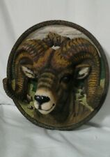 Hunter Trophy Big Horn Sheep Nature's Nobility 3-D Bradford Exchange Plate 1996