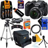 Nikon COOLPIX B500 16MP 40x Zoom Digital Camera,Blck + Batts.& Charger +32GB Kit