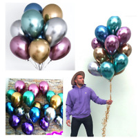 "10"" Chrome Balloons Bouquet Birthday Party Decor Metallic Wedding Shiny BALLOONS"