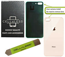 Back Glass for iPhone 8 PLUS OEM Replacement Rear Cover w/ WIDE Camera Hole