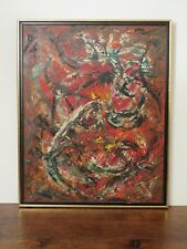 Abstract Painting Oil on Board by Naomi Lorne, American,1902-1964