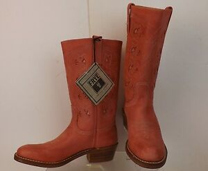 NWB FRYE CORAL DISTRESSED LEATHER BRUCE WESTERN BOOTS 7.5 $300