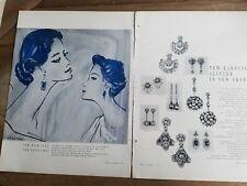 1950 Ledo Kramer Eisenberg Miriam Haskell jewelry Rene Bouche art ad
