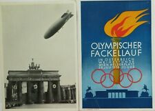 1936 BERLIN OLYMPICS POSTCARDS AND OLYMPIC POSTMARK
