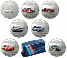 2018 FORD HIGH OCTANE 50 cent SET OF 7 UNC COINS COLLECTION In TIN  FREE POST