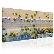Wandbild Leinwand Bild Miami Florida USA Palmen Strand Autos Leuchtende Farben
