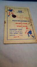 More details for 1937 scotland v england football program