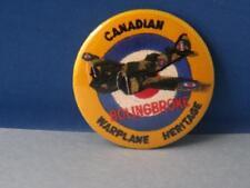 CANADIAN WAR PLANE HERITAGE BOLINGBROKE AIRPLANE BUTTON VINTAGE SOUVENIR