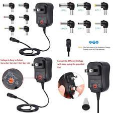 12W Universal Multi Voltage AC DC Adapter Converter Power Supply 6 Plug 3V - 12V