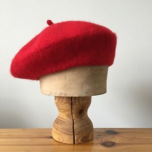 Woolmark 100% Wool Beret Hat One Size / Lipstick Red