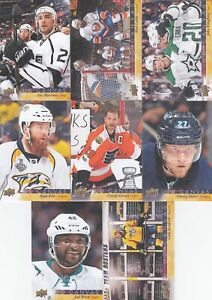2017-18 UPPER DECK CANVAS a lot of 13 DIFFERENTS CARDS    LOT 91     a