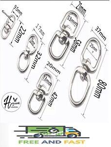 METAL DOUBLE EYE SWIVEL RINGS DOG LEAD ANTI TANGLE HOOKS CLASPS BOAT CHAIN ROPE
