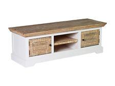 TV Bank Manila 150x50 weiß Echt Holz Pinie Lowboard TV-Möbel Wohnzimmermöbel