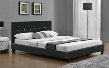 6FT Super King Size Bed Frame Faux Leather Black or Brown and with Mattress New