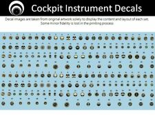 airscale Early Allied Jet Cockpit Instrument Dial decals - 1/48 scale AS48 AJET