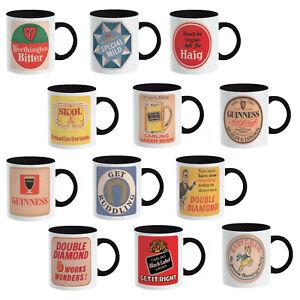 Beer Mugs Retro Design Vintage Beer Drinker Xmas Funny Present Gift for him  her