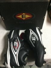 Easton Men's Black White Ankle Top Steel Cleat Athletic Shoes Size Sz 13 Medium