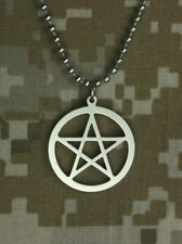 Genuine GI JEWELRY U.S Military WICCA Necklace PENTACLE PENDANT
