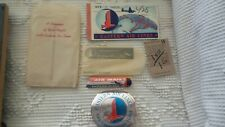Vintage EASTERN AIR LINES SOUVENIR PACKET Decal, Ticket, Air Mail Stickers 1946