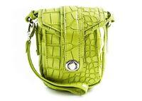 Hipster Crossbody Travel Handbag - women's - Croco Vegan Leather