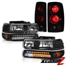 00 01 02 03 04 05 06 Tahoe LT Black DRL Bumper+Headlamps Rear Signal Tail Lamps